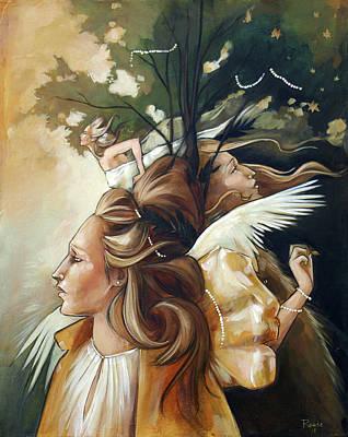 Gold Leaf Mysticism Poster