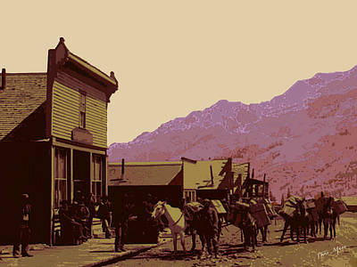 Gold Mining Town Poster