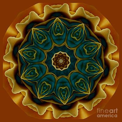 Gold Rose Mandala Poster