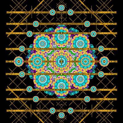 Gold Silver And Bloom Mandala Poster