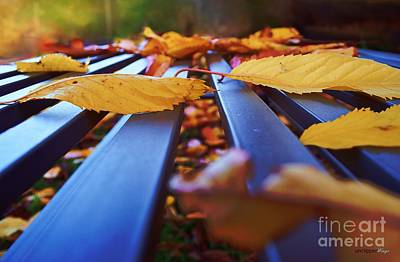 Poster featuring the photograph Gold Topped Table by Isabella F Abbie Shores FRSA