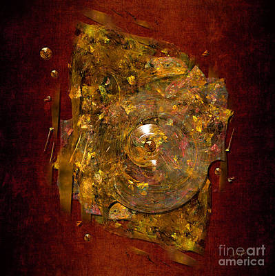 Poster featuring the digital art Golden Abstract by Alexa Szlavics