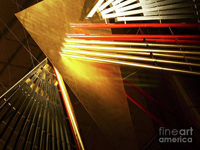 Golden Abstract Poster
