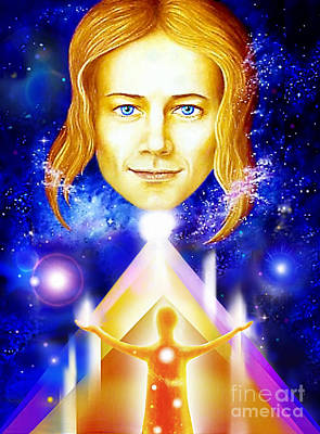 Golden Angel Poster by Hartmut Jager