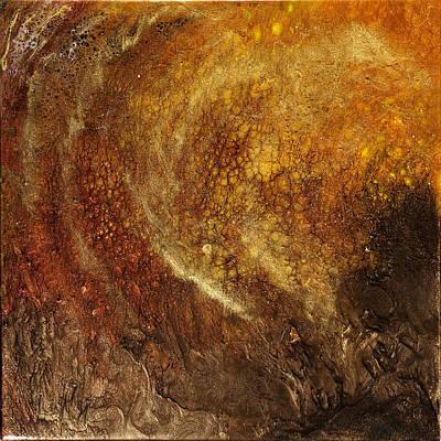 Golden Cavern Poster by Paul Tokarski