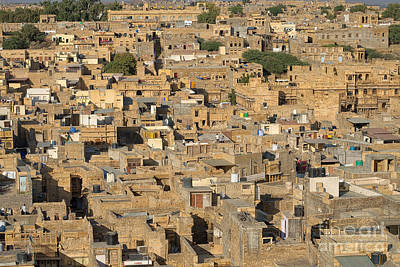 Poster featuring the photograph Golden City Jaisalmer by Yew Kwang