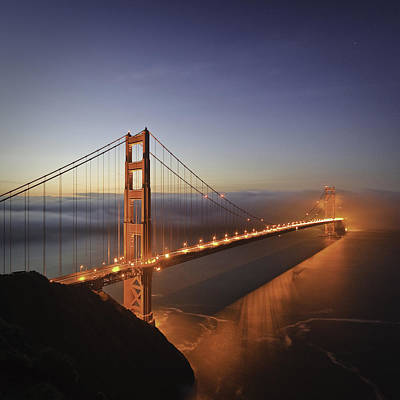 Dawn Over The Golden Gate Poster