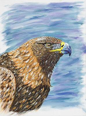 Poster featuring the painting Golden Eagle by Scott Wilmot