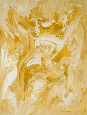 Poster featuring the painting Golden Flow by Irene Hurdle