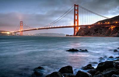 Golden Gate 2 Poster by Matt Hammerstein