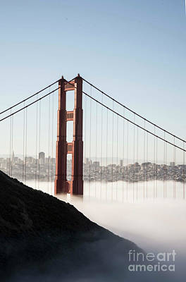 Poster featuring the photograph Golden Gate And Marin Highlands by David Bearden
