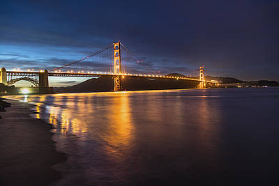 Golden Gate Blue Hour Poster by John McGraw