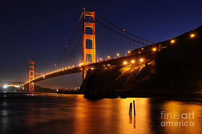 Golden Gate Bridge 1 Poster by Vivian Christopher