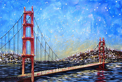 Golden Gate Bridge Poster by Amy Giacomelli
