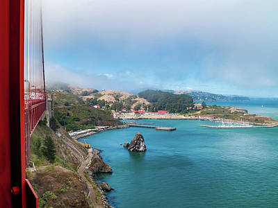 Golden Gate Bridge And Ft Baker Poster