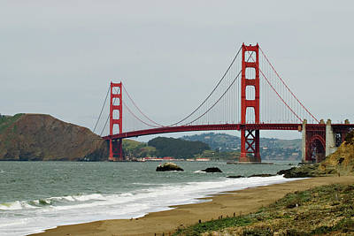 Golden Gate Bridge From Baker Beach Poster