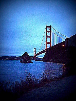Golden Gate Bridge From Cavallo Point - Fort Baker - Sausalito, California - Below Vista Point Photo Poster