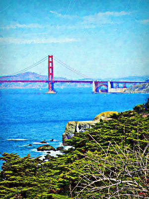 Golden Gate Bridge From The Coastal Trail Poster