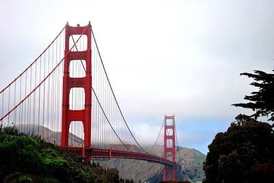 Golden Gate Bridge Full View Poster by Matt Harang