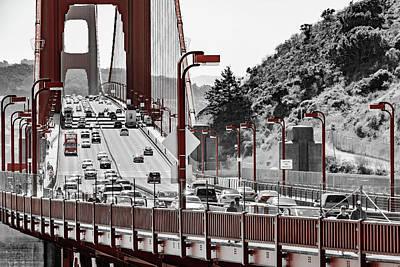 Golden Gate Bridge Street View Poster