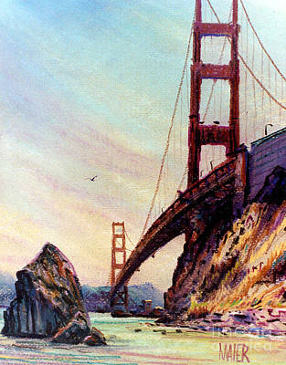 Golden Gate Bridge Looking South Poster by Donald Maier