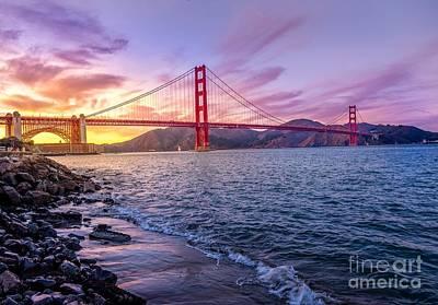 Golden Gate Bridge Poster by Edward Fielding