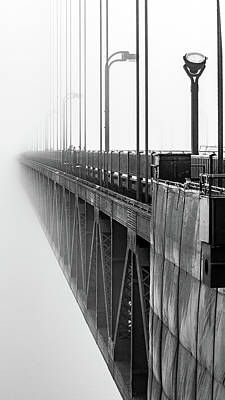 Golden Gate Bridge Portrait  Poster