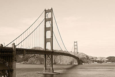 Golden Gate Bridge San Francisco - A Thirty-five Million Dollar Steel Harp Poster by Christine Till