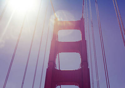 Golden Gate Bridge The Iconic Landmark Of San Francisco Poster by Jingjits Photography