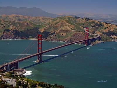 Golden Gate Poster by Donna Blackhall