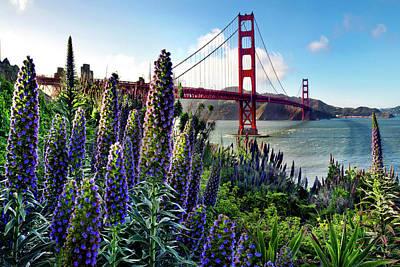 Golden Gate Flowers Poster