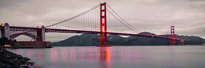 Golden Gate Panoramic Artwork - San Francisco California Poster by Gregory Ballos