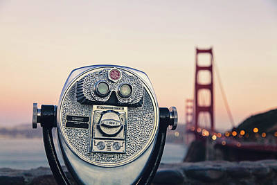 Poster featuring the photograph Golden Gate Sunset - San Francisco California Photography by Melanie Alexandra Price