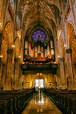 Golden Glow Of St. Patrick's Cathedral Poster