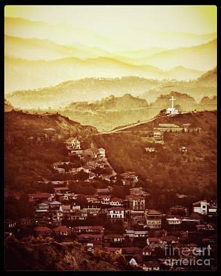 Golden Landscape By Raphael Terra Poster by Raphael Terra