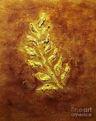 Golden Leaf Poster by Marsha Heiken