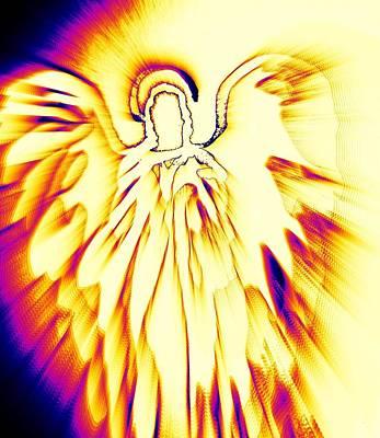 Golden Light Angel Poster