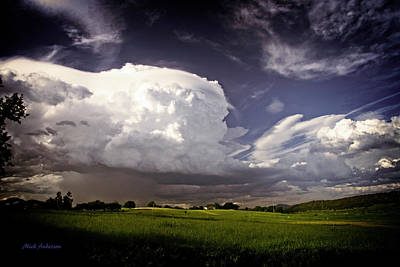 Golden Light Thunderstorm Poster by Mick Anderson