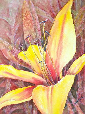 Golden Lily Poster by Carolyn Rosenberger