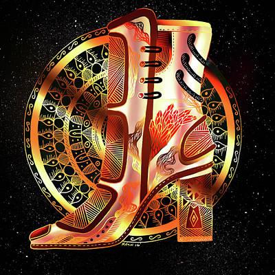 Golden Mandala High Heel Poster