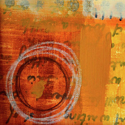 Poster featuring the painting Golden Marks 11 by Nancy Merkle