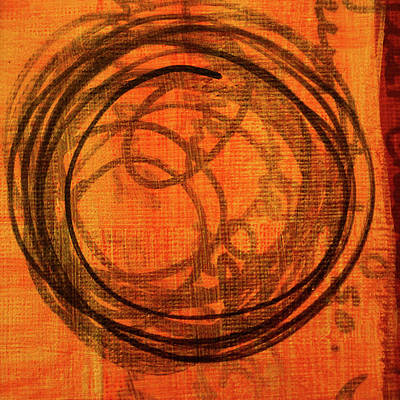 Poster featuring the painting Golden Marks 9 by Nancy Merkle