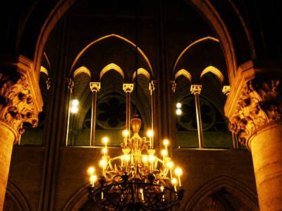 Golden Notre Dame Poster