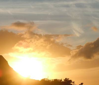 Golden Oahu Sunset Poster