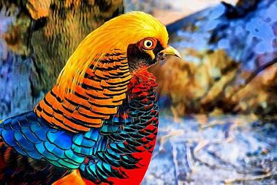 Golden Pheasant Painterly  Poster