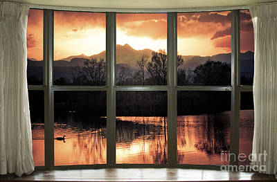 Golden Ponds Bay Window View Poster