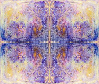 Golden Purple Cross Poster by Peter V Quenter