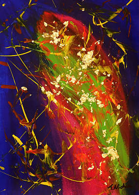 Golden Rainbow Trout Poster by Teressa Nichole