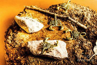 Golden Scorpion Amulets Poster