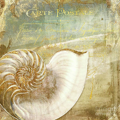 Golden Sea I Poster by Mindy Sommers